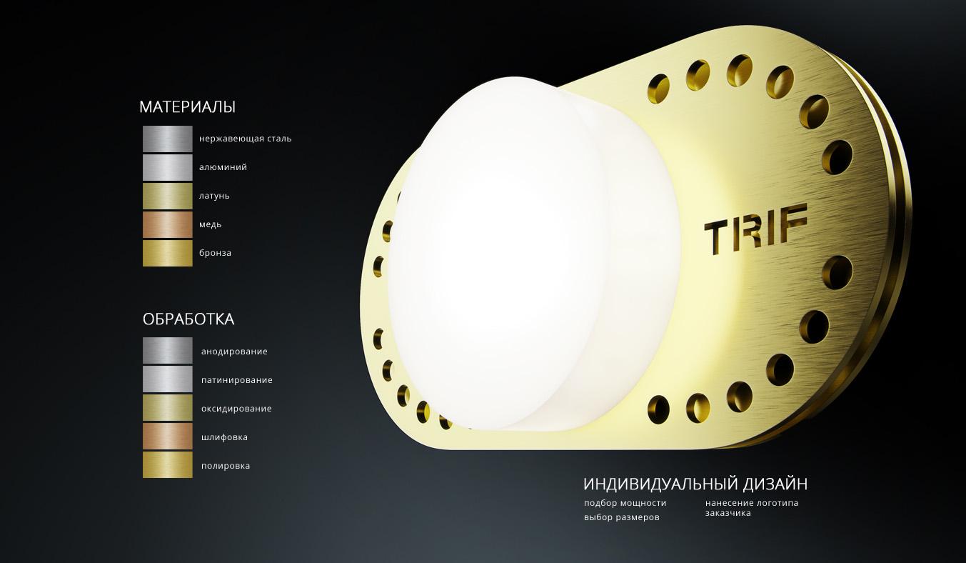 Индивидуальные светильники. Материалы изготовления и обработки