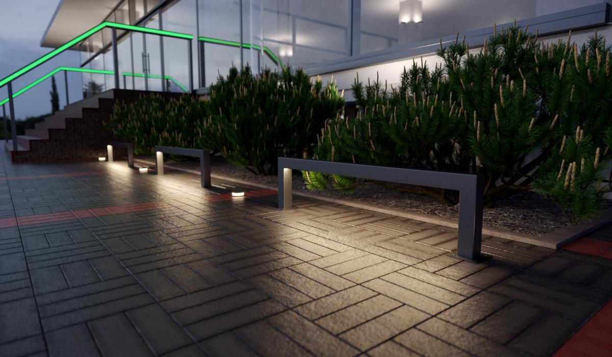 TRIF BARRIER- парковочныеогражденияс LED подсветкой на заказ