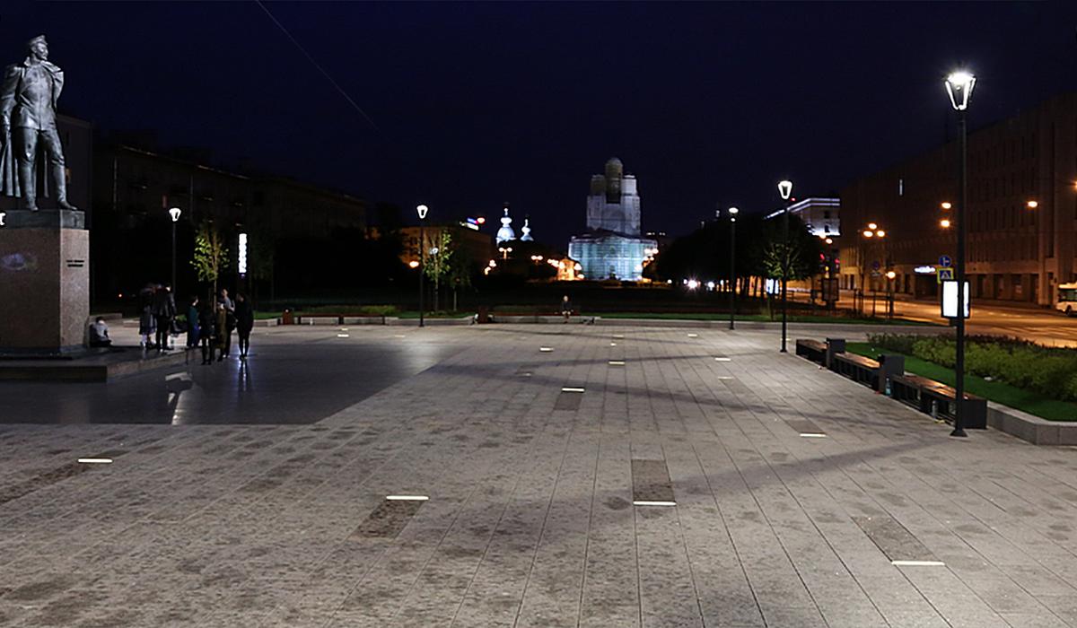 Светильники встраиваемые в грунт IP68 светодиодные LANE пл. Дзержинского, Санкт-Петербург