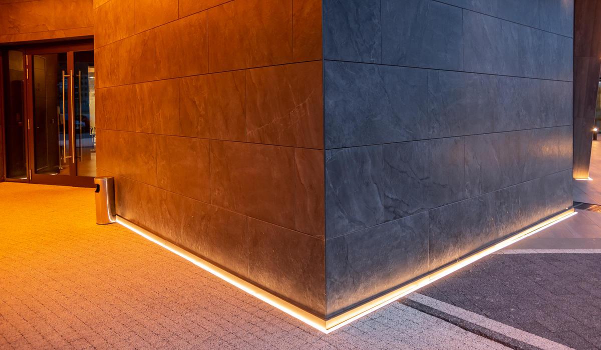 Линейные светильники в мощении