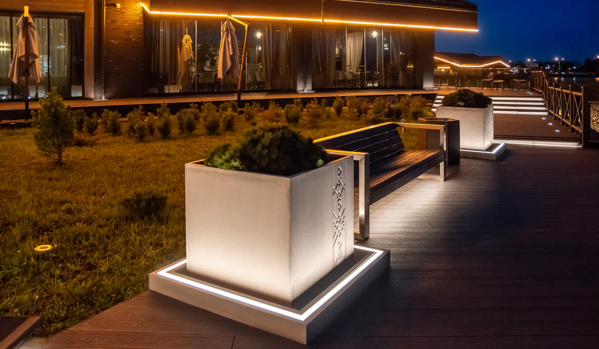 Ресторан Лебяжий - светильники встраиваемые в грунт IP68