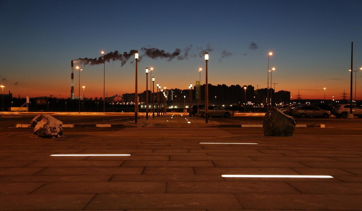 МЕГА Парнас и светильники LANE в грунте