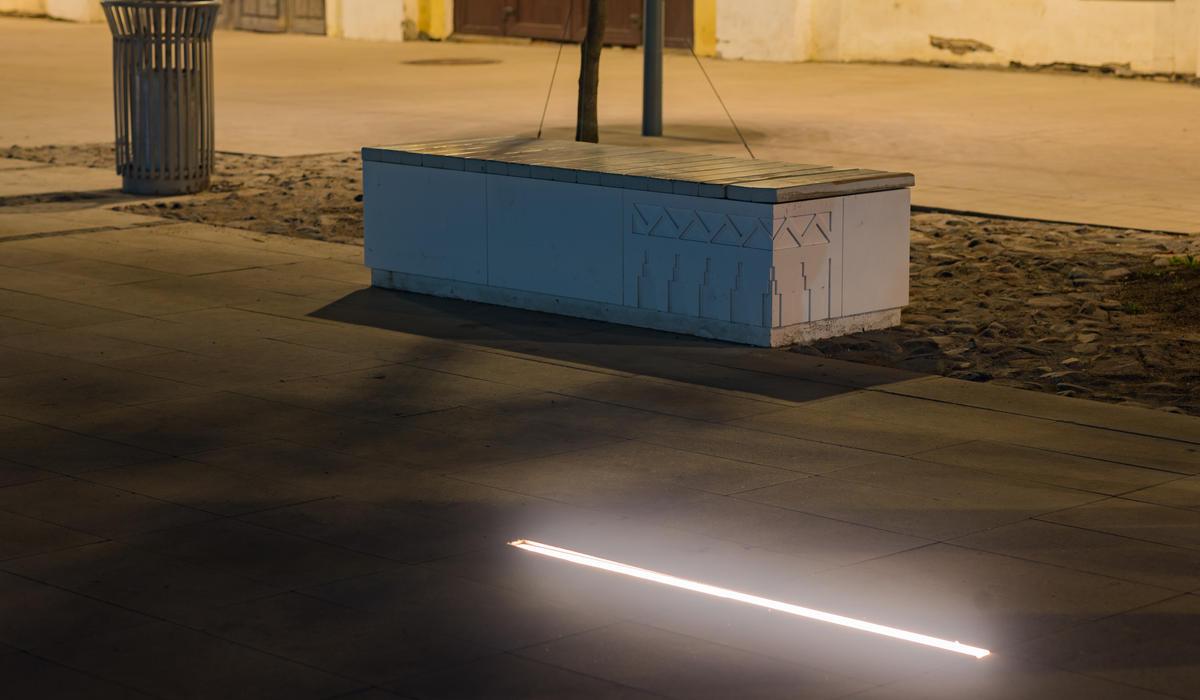 Площадь в Ростове - светильники в мощении LANE на заказ