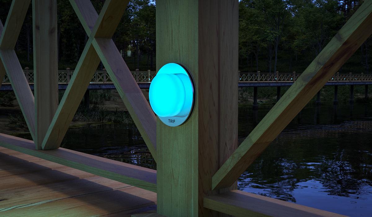 TRIF ROOF ROUND - ландшафтные светильники на заказ
