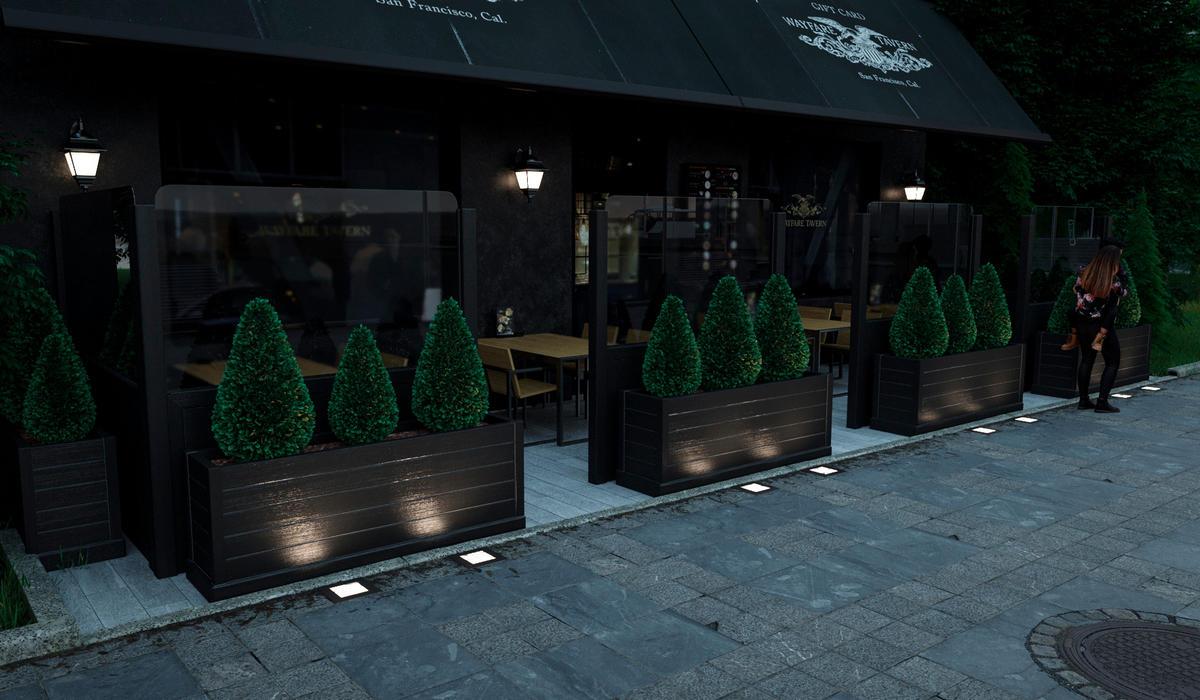 уличные светодиодные светильники TRIF TERRANO Q IP68