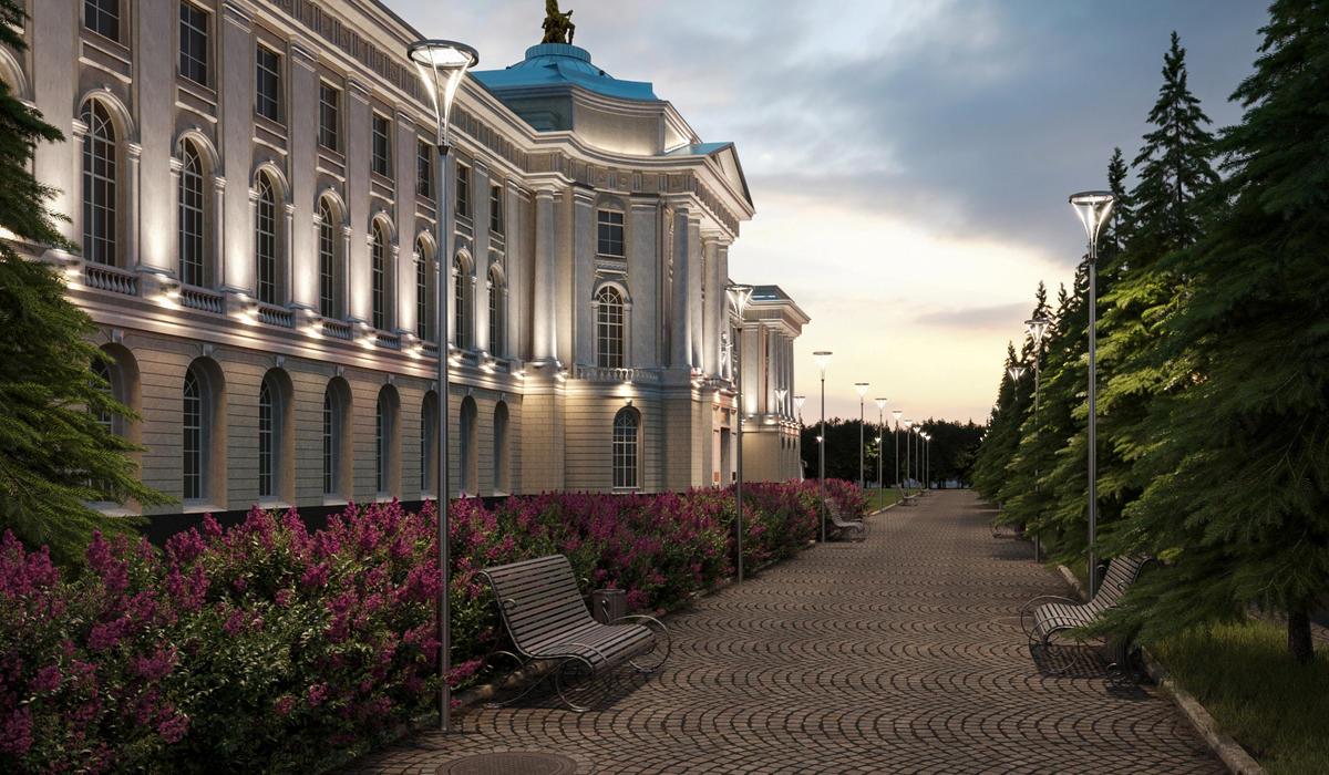 Столбы уличного освещения TRIF PALACE L производство в СПБ