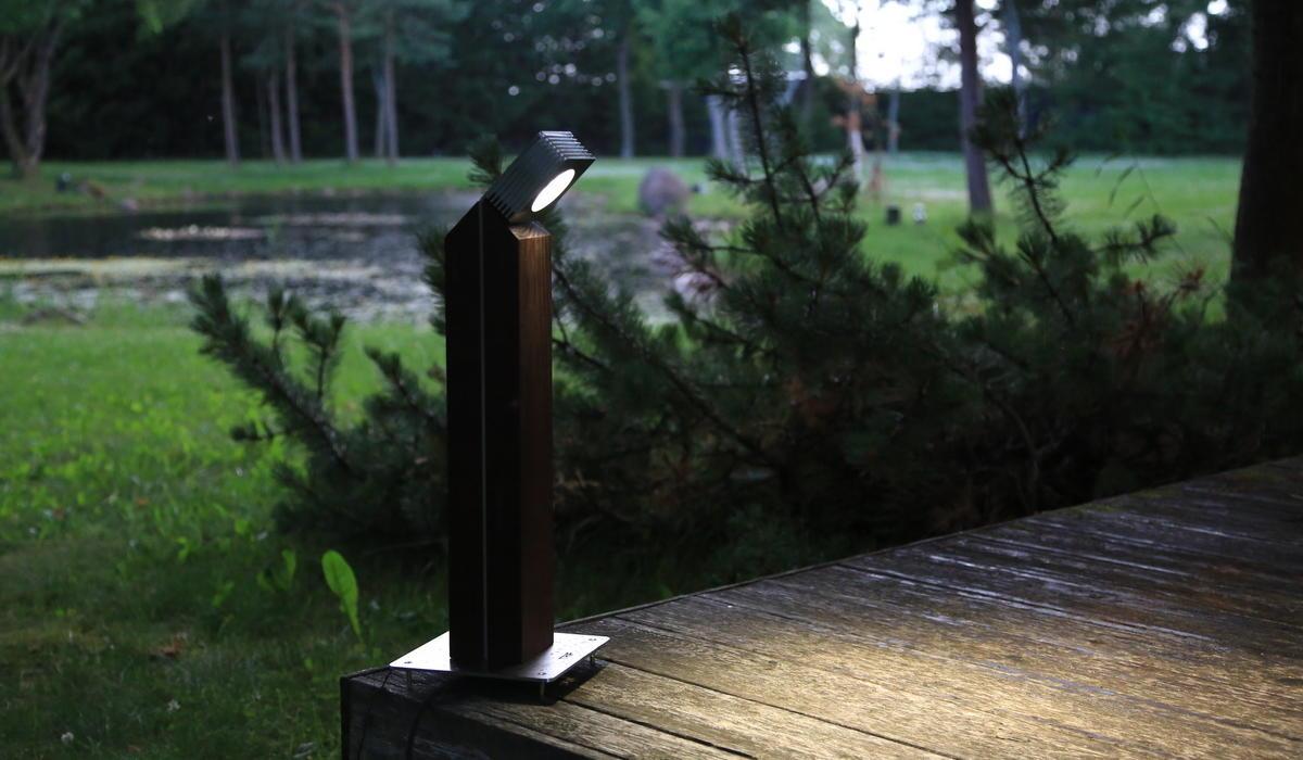 Светильники-столбики для ландшафтного освещения TRIF WOOD Q на заказ