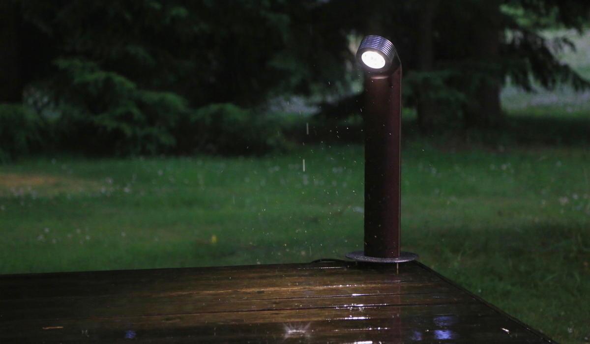 Светодиодный ландшафтный светильник из термодерева TRIF WOOD R 45