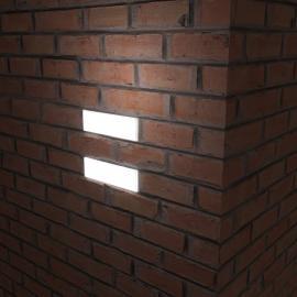 Светильники, встраиваемые в стену - светодиодный кирпич BRICK