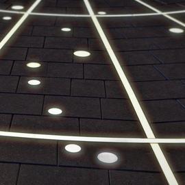 Грунтовые линейные светильники с защитой от вандалов