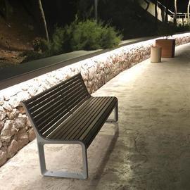 LANE SLENDER в подсветке подпорных стен