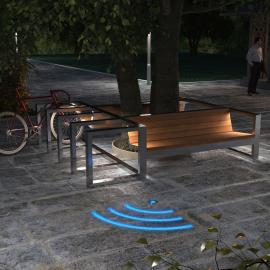 Wi-Fi зоны - обозначение светящимися линиями