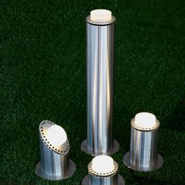 Светодиодные садовые светильники столбики по индивидуальному дизайну