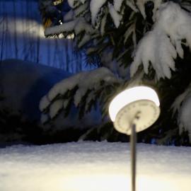 OLIVA UP герметичный уличный светильник для дачи на ножке IP68/ +лёд