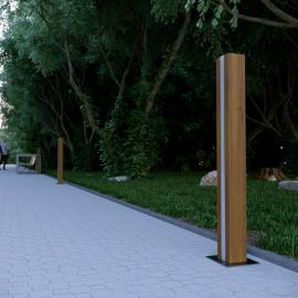 WOOD LIBRA деревянные ландшафтные светильники