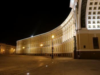 Светильники TRIF LUNA на Дворцовой площади, СПб