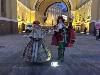 Антивандальные уличные светильники TRIF на Дворцовой площади