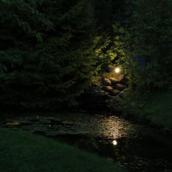 Ландшафтное освещение частной территории