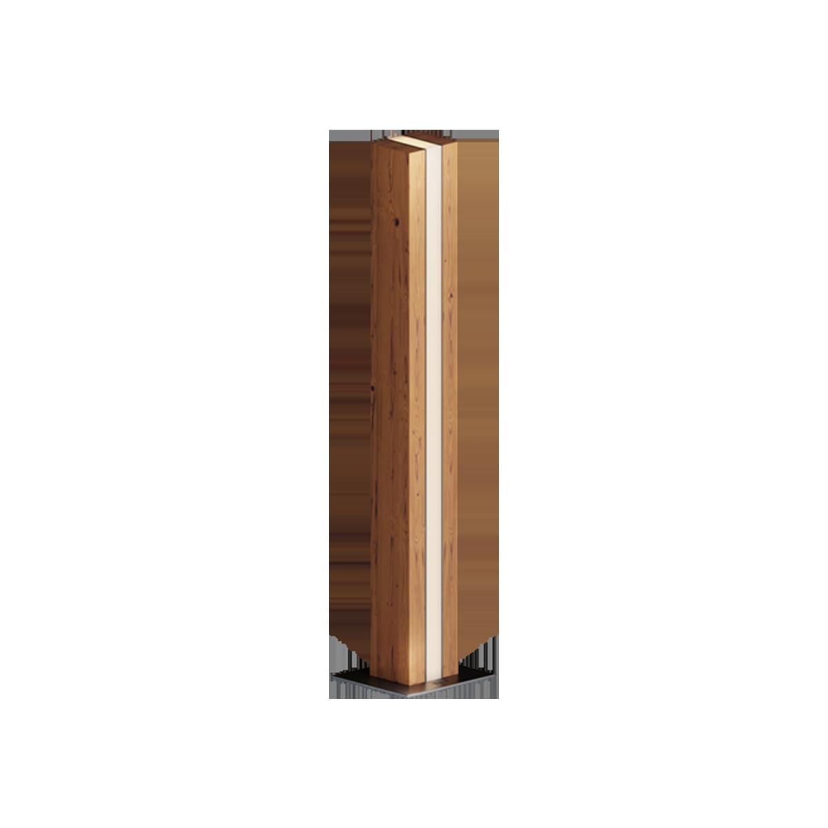 WOOD LIBRA Серия светильников столбиков, корпус выполнен из термодревесины